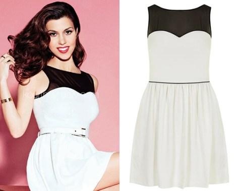 Kourtney Kardashian in Kardashian Kollection Prom Dress