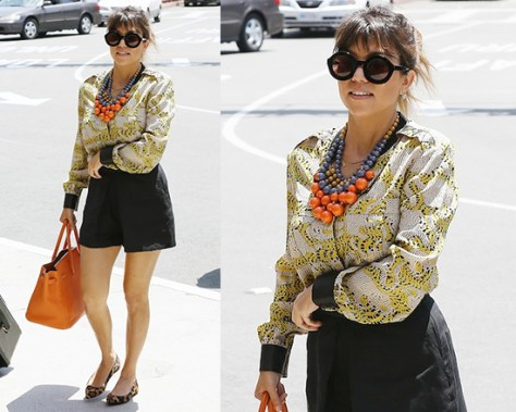 Kourtney Kardashian wearing Kelly wearstler Crouching Tiger Diego Top