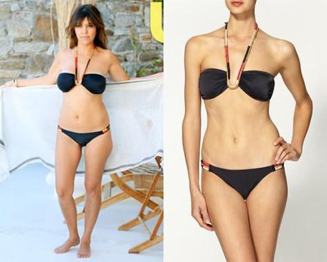 Kourtney Kardashian wearing Vix Swimwear Senegal Bandeau Bikini while in Greece
