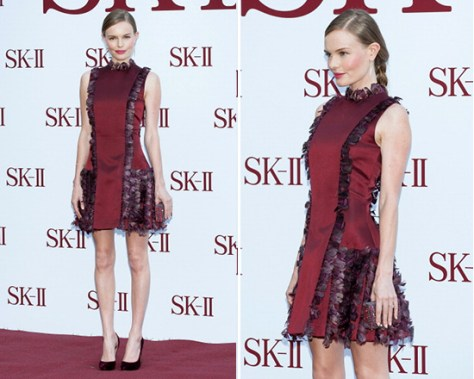 kate-bosworth-Christopher-Kane-Feather-Silk-Satin-Dress