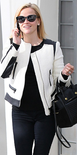 reese-witherspoon-Club-Monaco-Reid-Boucle-and-Leather-Jacket