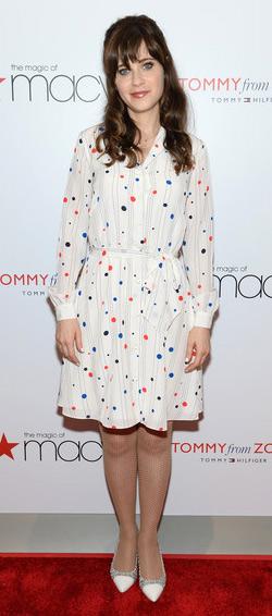 Zooey Deschanel for Tommy Hilfiger Polka-Dot Printed Shirtdress