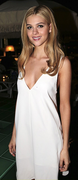 nicola-peltz-Alexander-Wang-V-Neck-Strap-Dress
