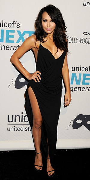 Naya-Rivera-La-Perla-Glimmering-Soutache-Beachwear-Dress