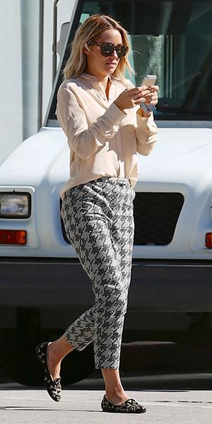 lauren-conrad-Topshop-Shadow-Houndstooth-Cigarette-Trousers