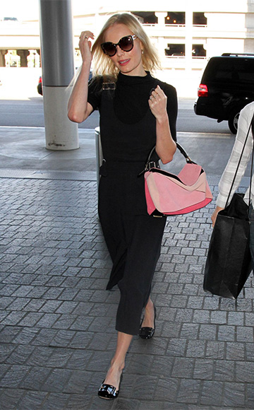 Kate Bosworth in a A.L.C. Alice Buckle-tab Dress at LAX airport on October 30.