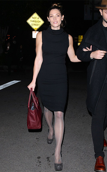 Ashley Greene in a Acne Studios Clovis Wool-blend Dress leaving the Nice Guy restaurant on December 11.