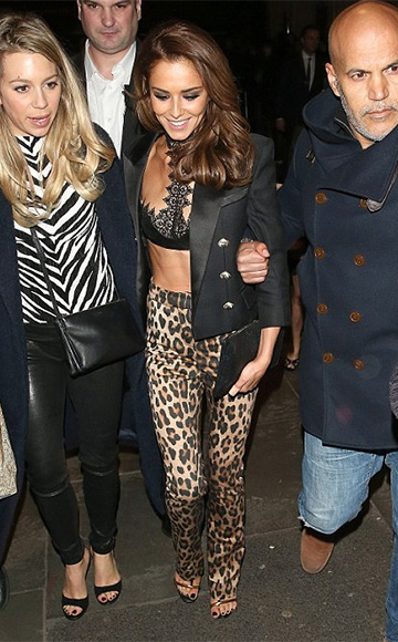 Alexander McQueen Leather And Guipure Lace Bra as seen on Cheryl