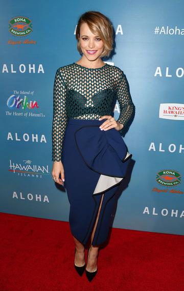 Self-Portrait Ruffled Midi Dress as seen on Rachel McAdams