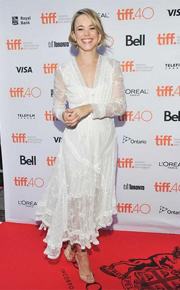 Zimmermann White Silk Admire Cherry Dress as seen on Rachel McAdams