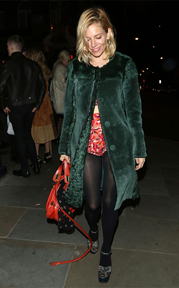 Chloe Paraty Orange Fizz Bag as seen on Sienna Miller