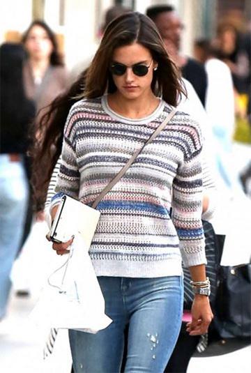 Inhabit U-Neck Sweater as seen on Alessandra Ambrosio
