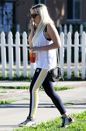 Adidas Originals by Rita Ora Cosmic Confession Leggings as seen on Amanda Bynes