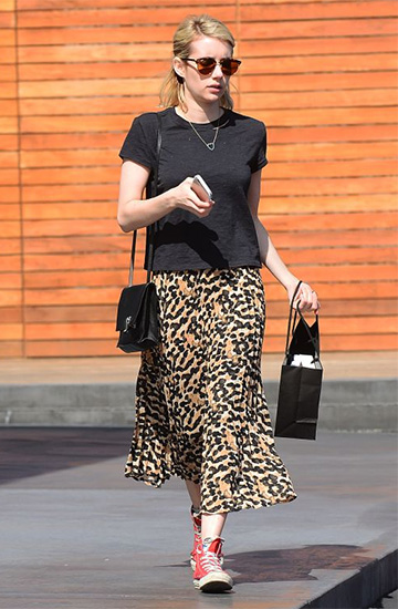 Essentiel Antwerp Ladwog Skirt as seen on Emma Roberts