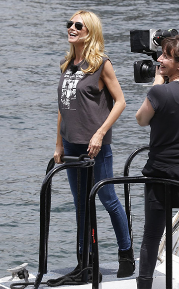 R13 Ziggy Stardust T-shirt as seen on Heidi Klum