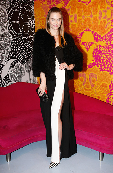 DVF Frederica Embellished Silk and Lace Slip Maxi Dress as seen on Jaime King