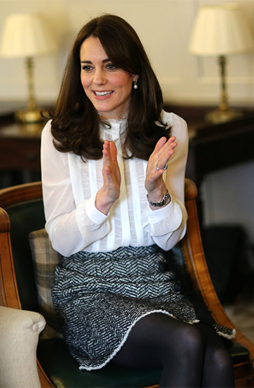 Dolce & Gabbana yarn fringe skirt as seen on Kate Middleton