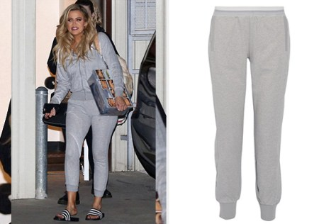 Adidas By Stella McCartney Essentials Climalite Cotton-blend Track Pants as seen on Khloe Kardashian