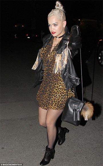 Saint Laurent Fringed Biker Jacket as seen on Rita Ora