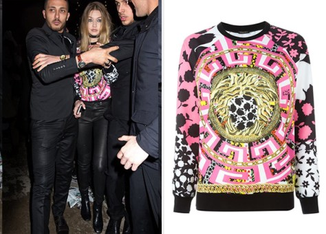 Versace Medusa Mix Print Sweatshirt as seen on Gigi Hadid