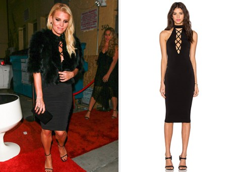Nookie Tropicana High Neck Dress as seen on Jessica Simpson