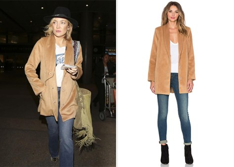 Lovers + Friends X Revolve The Everyday Coat as seen on Kate Hudson