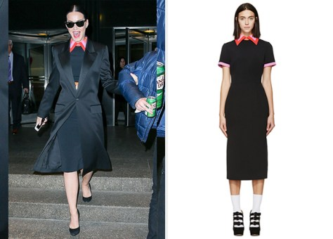 Roksanda Black & Violet Bayham Dress as seen on Katy Perry