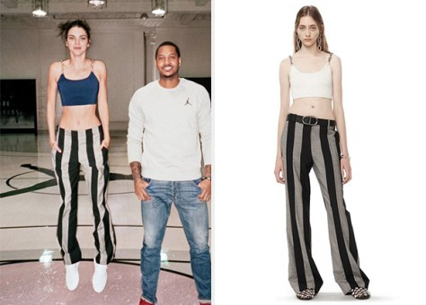 Alexander Wang Runway Tailored Striped Pants as seen on Kendall jenner Vogue April 2016