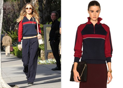 Chloe Sporty Silk Knit Track Jacket as seen on Suki Waterhouse