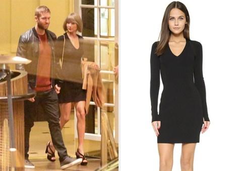 Taylor Swift Date Night Rag & Bone Galina Ribbed Dress