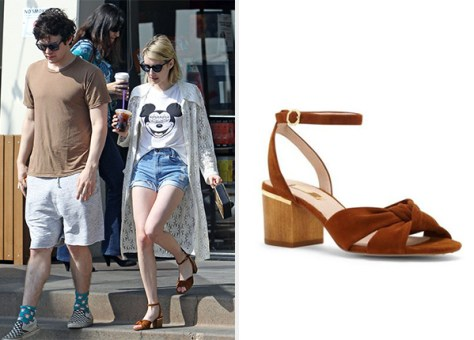 Louise et Cie 'Genna City' Knotted Strap Sandals as seen on Emma Roberts