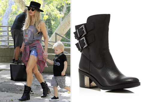Fergie steps out in Fergie Footwear Wistful Moto Short Boots