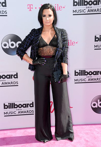 House of CB Eloise Eyelash Lace Cami Bodysuit as seen on Demi Lovato at the 2016 Billboard Music Awards