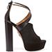 Aquazzura Kaya Leather And Suede Platform Sandals