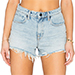 Denim x Alexander Wang Bite High Rise Frayed Jean Shorts