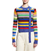 Marc Jacobs Striped Tattered Crewneck Sweater
