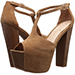 Jessica Simpson Dany T-Strap Suede Platform Heels