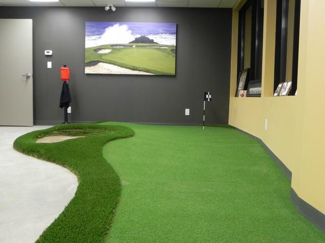 indoor putting green in office
