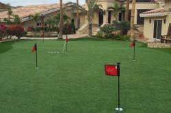 PV artificial grass putting green