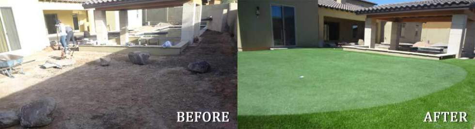 Before & After Green Installation in Phoenix