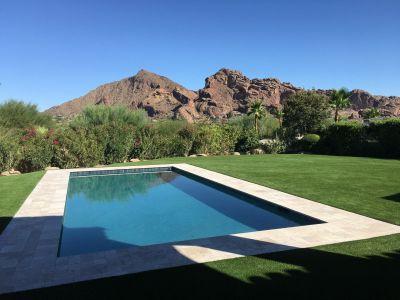 phoenix az artificial grass pool surround