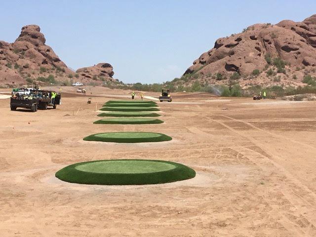 Arizona State target putting greens installed by Celebrity Greens expert putting green installers