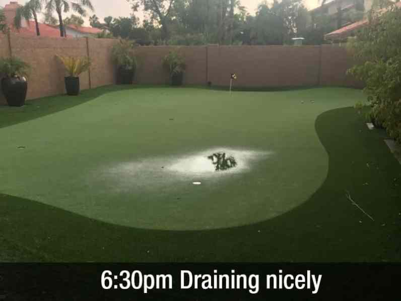 6:30pm draining nicely