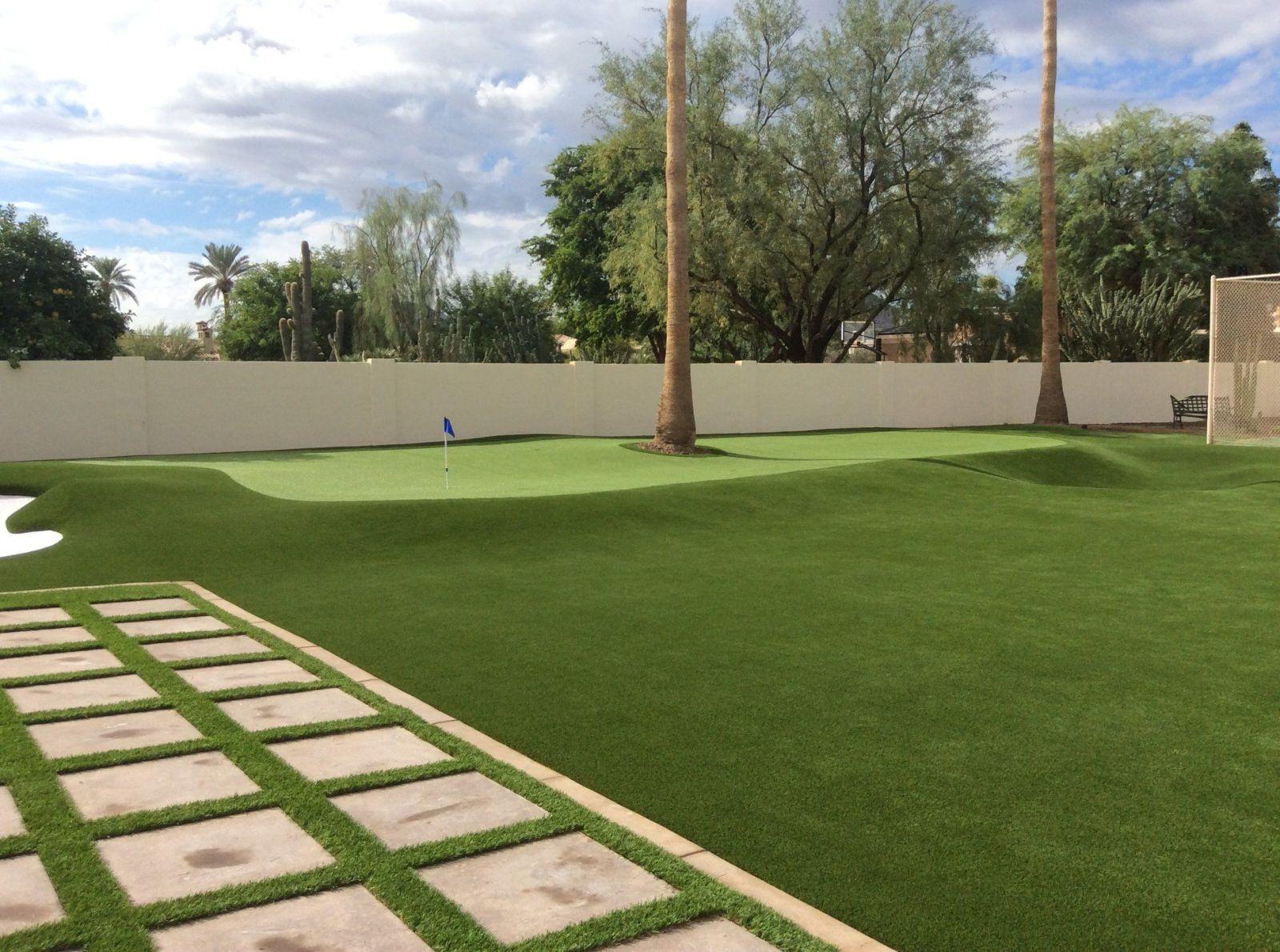 custom backyard artificial grass putting green