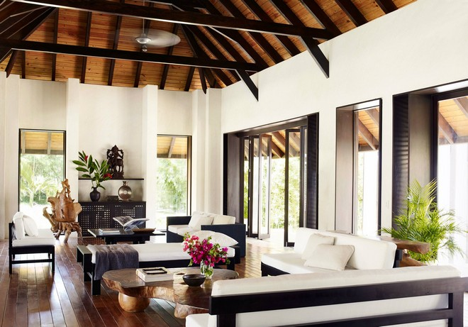 pool chair cushions cloth office chairs inside celebrity homes: marc anthony dream home in dominican republic | homes