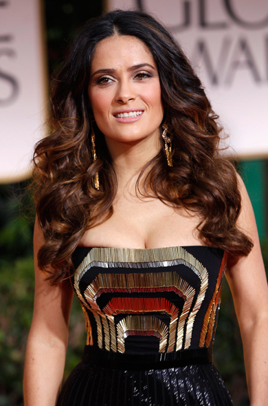 Salma Hayek Workout Routine  Celebrity Sizes