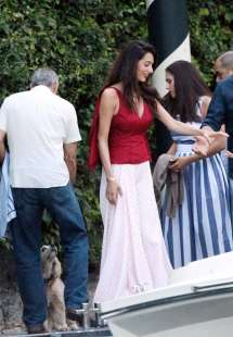 Amal Clooney And George Enjoys Candlelight