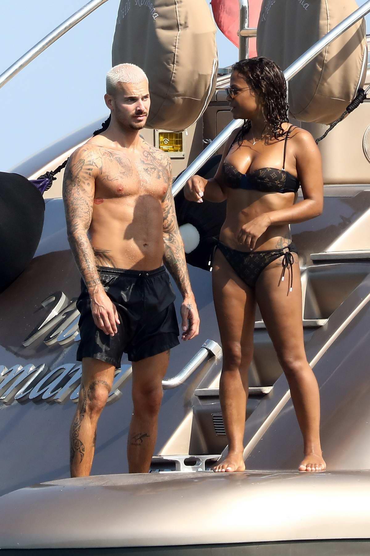 Christina Milian In A Bikini Enjoys A Holiday On A Yacht