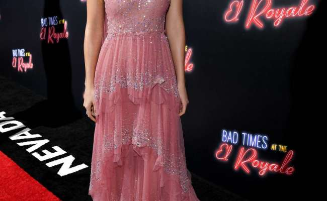 Dakota Johnson Attends Bad Times At The El Royale Film