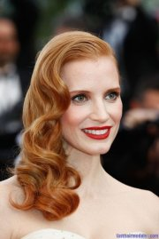 hairstyles of jessica chastain